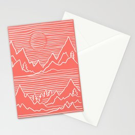 A Perfect Adventure - Outdoor Abstract Living Coral Stationery Cards