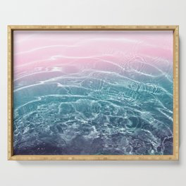 Pink Blue Ocean Dream #1 #water #decor #art #society6 Serving Tray