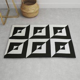 Original Geometric Op Art Design Rug