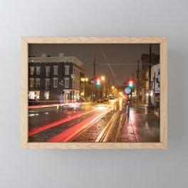 Findley Market Streetcar by Night, OTR, Cincinnati, Ohio. Framed Mini Art Print