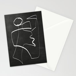 Abstract line art 6/2 Stationery Cards