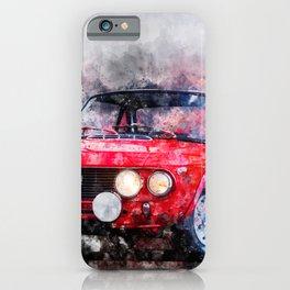 Lancia Fulvia HF Red iPhone Case