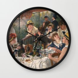 Luncheon of the Boating Party Painting, Pierre-Auguste Renoir Wall Clock