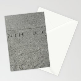 Tenth St NW sidewalk stamp Stationery Cards