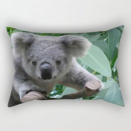 Koala and Eucalyptus Rectangular Pillow