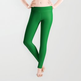 Dunn & Edwards 2019 Trending Colors Get Up and Go Green DE5636 Solid Color Leggings