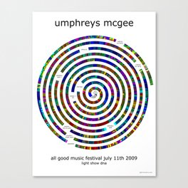 Umphrey's McGee All Good 2009 Poster Canvas Print