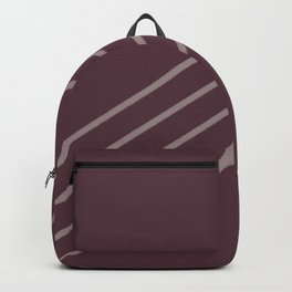 Deep Purple Pink-Purple Stripe Diagonal Pattern 2021 Color of the Year Epoch Spiced Mulberry Backpack