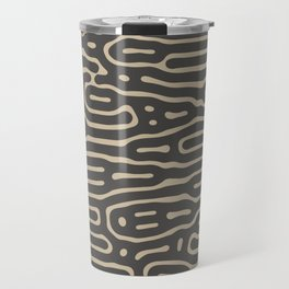 Elegant Organic Khaki Anthracite Travel Mug