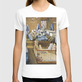 Sir John Lavery - Lady Henry's Creche, Woolwich - Digital Remastered Edition T-shirt