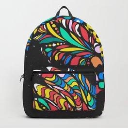 Peruvian bird Gallito de las Rocas Colorful version Backpack