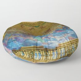 Frescoes of La Maddalena Cathedral, Rome, Italy Floor Pillow