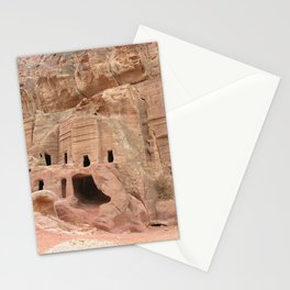Carved Stone Monuments, Petra, Jordan Stationery Cards