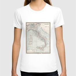 Vintage Map of Italy (1893) T-shirt