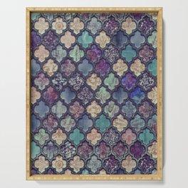 Moroccan Tile Design In Retro Colors Serving Tray