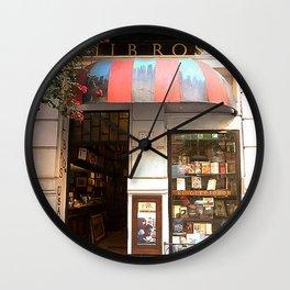 Libreria, Buenos Aires Wall Clock