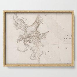 Johann Bayer - Uranometria / Measuring the Heavens (1661) - 16 Aquila Serving Tray