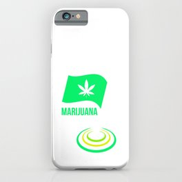 cannabis hemp ganja grass smoking pot gift iPhone Case