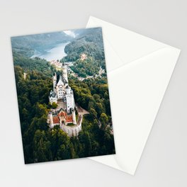 Architecture Neuschwanstein Castle Swangau Bavaria Germany. Fairytale view Stationery Cards