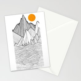 The waves and the mountains under the sun Stationery Cards