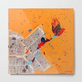 Letter Trail by Nadia J Art Metal Print