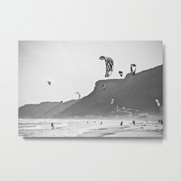 Windsurfers having fun on the Atlantic Ocean - Landscape Photography #Society6 Metal Print