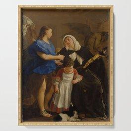 Gaspare Traversi - Saint Margaret of Cortona Serving Tray