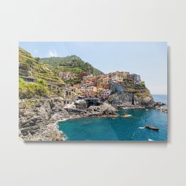 Manarola is one of the most beautiful islands of Cinque Terre Metal Print