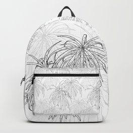Henkelii Tree Leaves Drawing (black on white) Backpack
