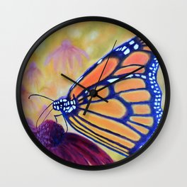 King of butterfly | Le roi des papillons Wall Clock