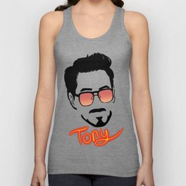 Tony Stark (Graphic) Unisex Tank Top