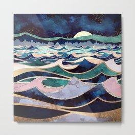 Moonlit Ocean Metal Print