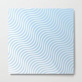 Whisker Pattern - Light Blue & White #285 Metal Print