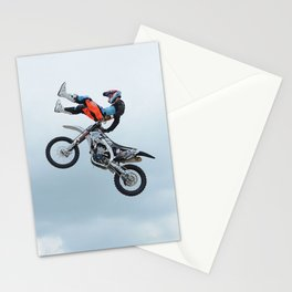 Motocross Shaolin Stunt Jump Stationery Cards