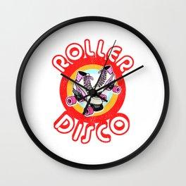 Roller Disco Derby Vintage & Distressed design 70s 80s Wall Clock