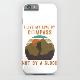 Trekking outfit for hobby mountaineers and hikers iPhone Case