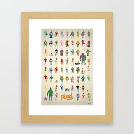Pixel Nostalgia Framed Art Print