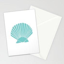 Aqua Seashell Stationery Cards
