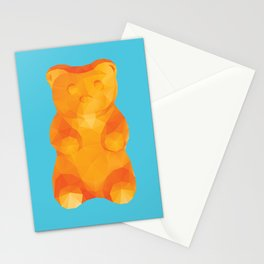 Gummy Bear Polygon Art Stationery Cards
