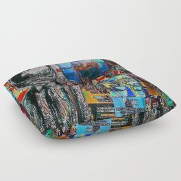Market Art Floor Pillow