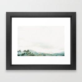 Hanalei Fog Framed Art Print