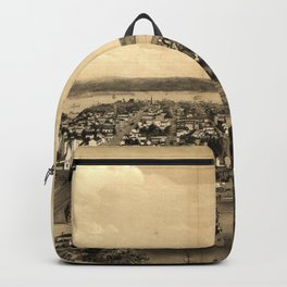 Vintage Pictorial Map of Hamilton Ontario (1859) Backpack