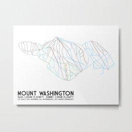 Mount Washington Alpine Resort, BC, Canada - Minimalist Trail Art Metal Print