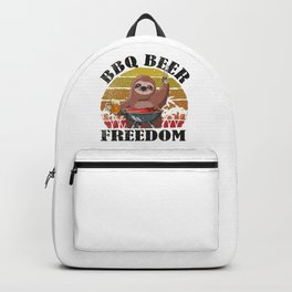 Sloth Beer BBQ Father's Day BBQ Grill Backpack