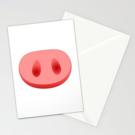 Pigs Snout Stationery Cards