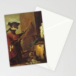 Jean-Baptiste-Simeon Chardin - Le Singe peintre Stationery Cards