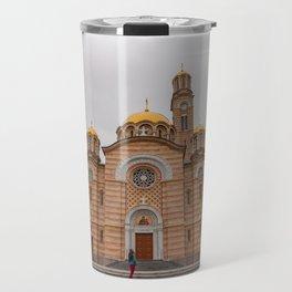 Banja Luka Cathedral in Bosnia and Herzegovina Travel Mug