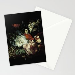 Rachel Ruysch - Nosegay on a Marble Plinth Stationery Cards