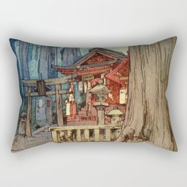 Yoshida Hiroshi - A Misty Day In Nikko - Digital Remastered Edition Rectangular Pillow