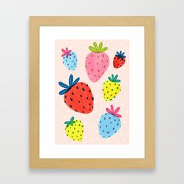 Bright Berries Framed Art Print